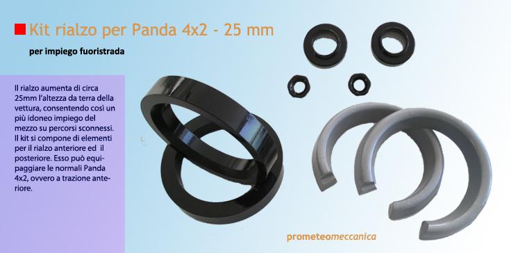 Prometeo meccanica rialzo ruote panda 25 mm for Kit per il portico anteriore